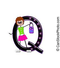 Alphabet Diva Dolly Q - The letter Q, in the alphabet set...