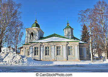 Lappeenranta, Finland. Orthodox church - Finland. Old wooden...