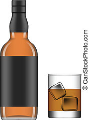 Liquor - Layered vector illustration of isolated glass and...