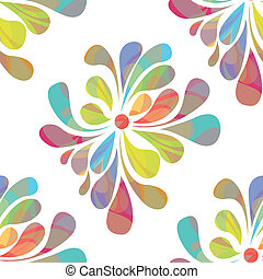 Colorful floral seamless over white - EPS 10 vector file...