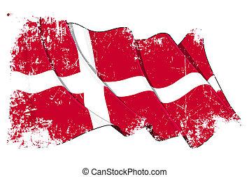 Grunge Flag of Denmark