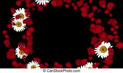 rose petals & daisy shaped wreath