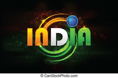 India Background - illustration of India background with...