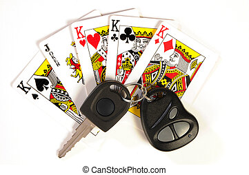 4 Kings & Joker - Playing cards. Four kings and joker