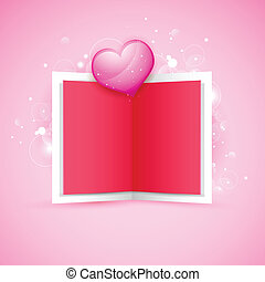 Love Card - illustration of love card with glossy heart