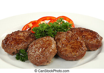 four cutlets with sweet pepper