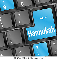 Computer keyboard with hannukah words