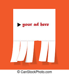 Blank advertisement with cut slips - illustration