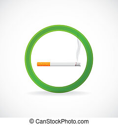 Smoking allowed sign symbol - illustration