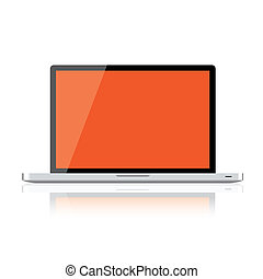 Laptop isolated on white background, clipping path included