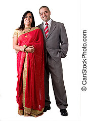 East Indian Couple - Portrait of a young East Indian couple