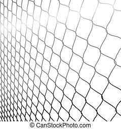 wired fence in perspective - illustartion