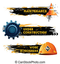 Under Construction - illustration of under construction...