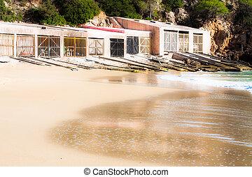 Beautiful small bay in Ibiza Spain
