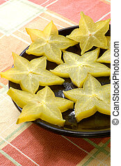 carambola - chinese star fruit, also called carambola