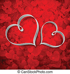 Love Heart - illustration of couple of heart on love...