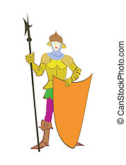 The old-time warrior - vector of old-time warrior