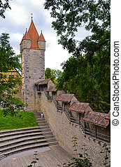 Rothenburg, foreshortening towers 4 - Interior view of the...