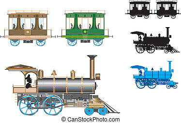 vector  retro  train