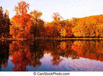 Autumn landscape - Beautiful colors of autumn landscape by...