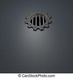 gear wheel prison window