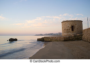 Watchtower on Torrevieja coast, Costa Blanca, Spain