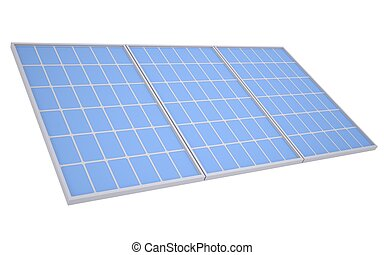 Solar panels. Isolated render on a white background