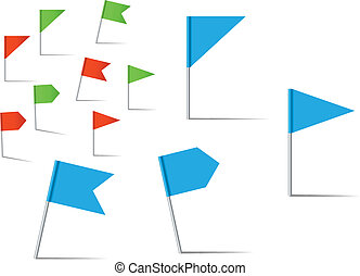 Pin flags for navigation and location service - Pin flags...
