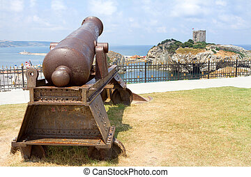 Ottoman Cannon - Historic Ottoman Cannon at Sile in Istanbul