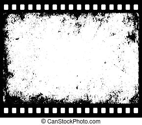 grunge filmstrip with transparent space insert for picture...