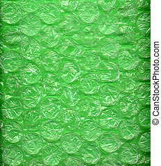 Green Bubblewrap or Packing Material - Background made of...