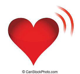 Heart Icon with RSS Sign