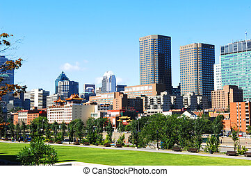 Skyline of Montreal - The skyline of Montreal with old...