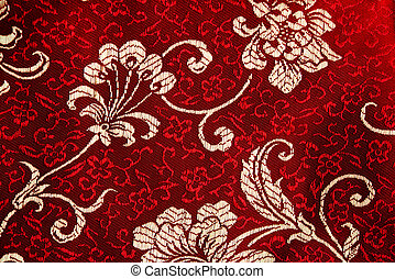 Cheongsam floral detail - Traditional chinese silk clothing...