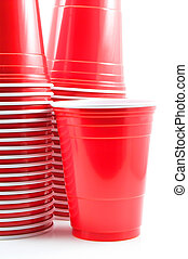 Plastic Cups - Plastic cups ready for a group of people.