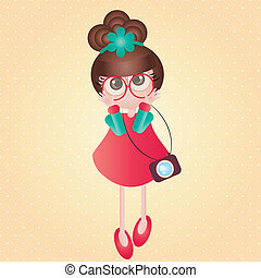Cute baby - This image is a vector illustration and can be...