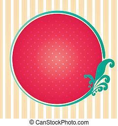Cute circle frame