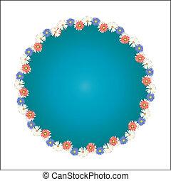 Flowers circle frame