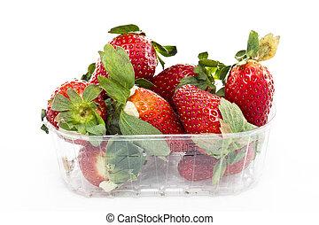 籃子, 草莓, 市場