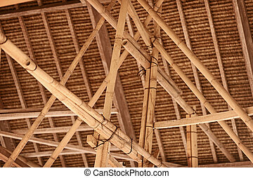 Indonesian bamboo roof construction - The construction...