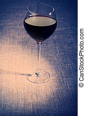 red wine - A glass of red wine.