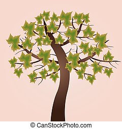 Green leaf tree - This image is a vector illustration and...