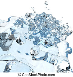 3d water pouring splash - 3d water pouring in glass and...