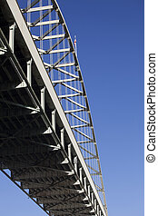 Fremont Bridge in Portland, Oregon - Fremont bridge in...