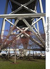 Fremont Bridge in Portland, Oregon - Under the Fremont...