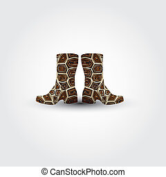 Boot - This image is a vector illustration and can be scaled...