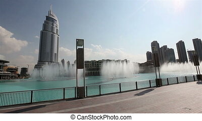 Burj Khalifa Performing Fountain (Dubai). The United Arab...