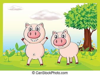 Smiling pigs