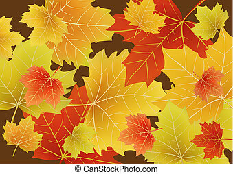 Beautiful autumn leaves - illustration of Beautiful autumn...