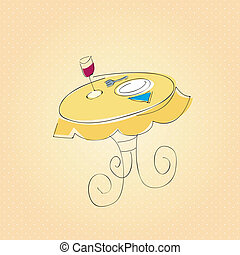 Dinner table - This image is a vector illustration and can...